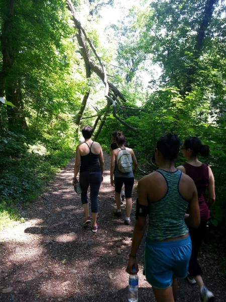 Hiking a trail in Rock Creek Park