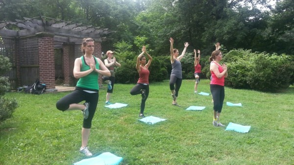 Yoga Stop at Montrose Park