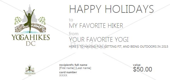 yogahikes Gift Card