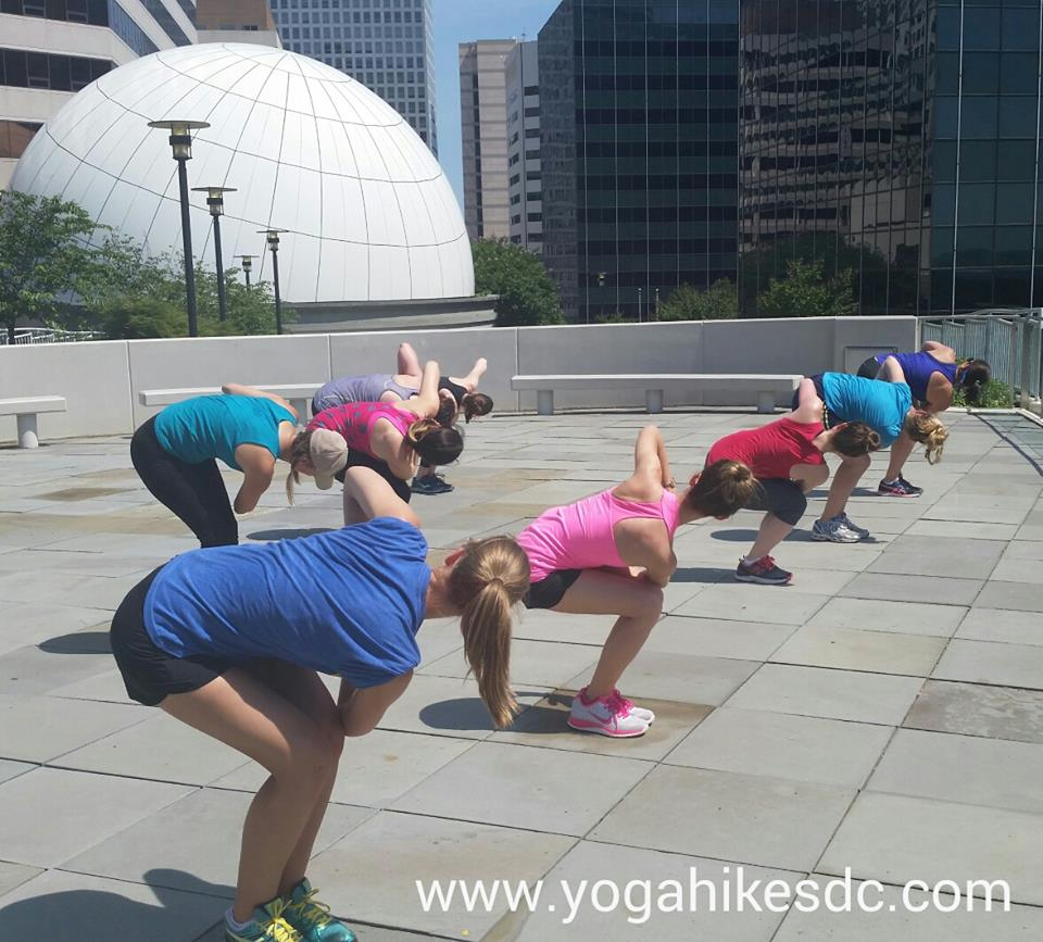 1 Yoga Hike, 5 Parks! – Yoga Hikes DC Starts Saturday in Rosslyn!
